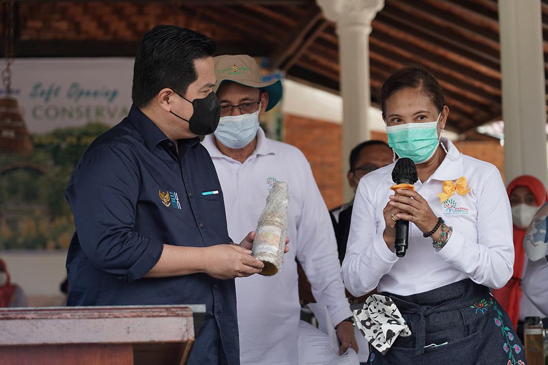 Menteri BUMN Erick Thohir hari Jumat (25/6) berkunjung ke Provinsi Sumatera Utara.