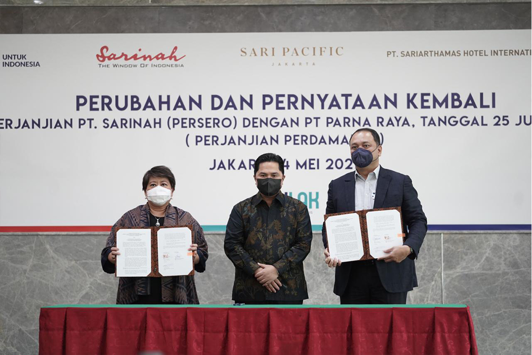 Perjanjian kerjasama  PT Sarinah dan PT Parna Raya
