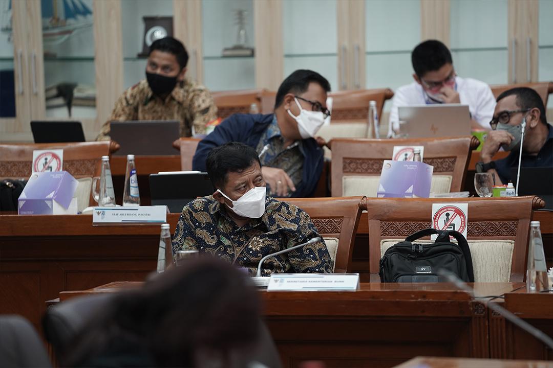 Kementerian BUMN menghadiri Rapat kerja dengan DPR