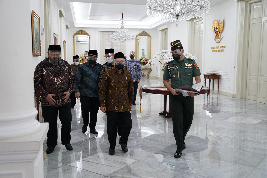 pelantikan pengurus MES di Istana Wakil Presiden