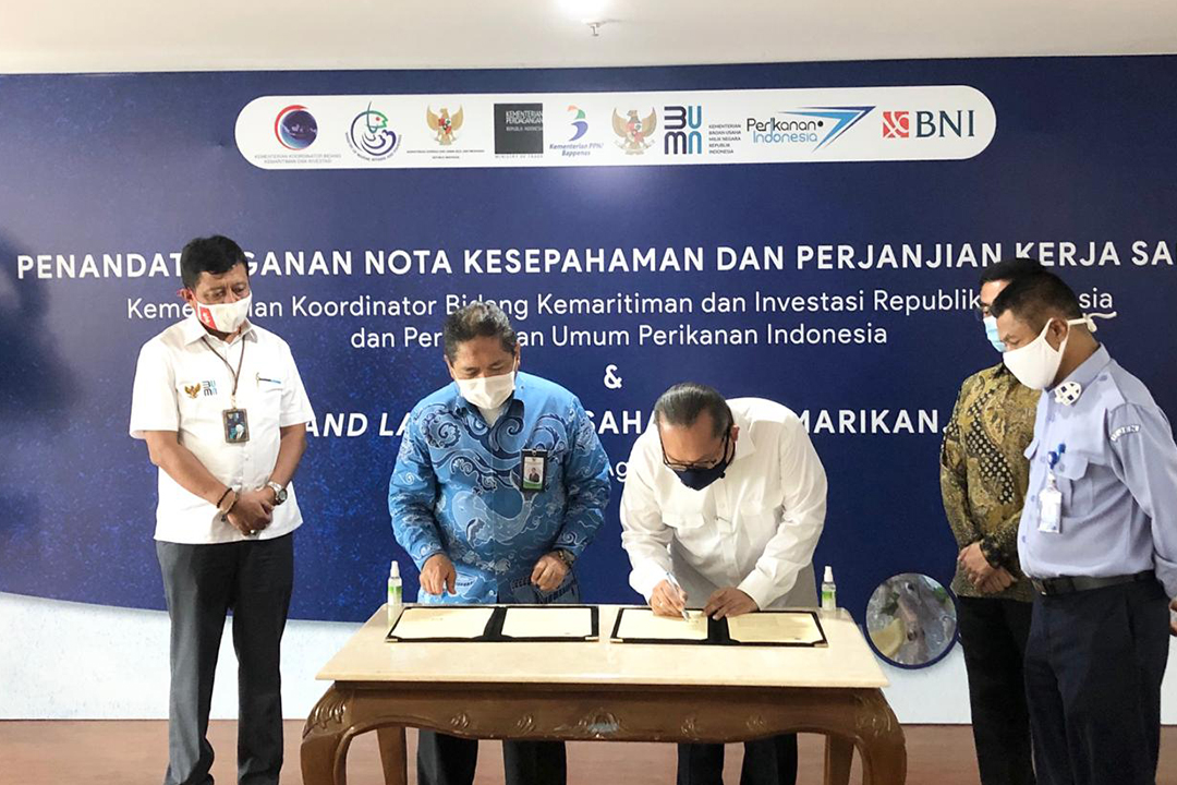 Sekretaris Kementerian BUMN Susyanto menghadiri Penandatanganan Nota Kesepahaman antara Perusahaan Umum Perikanan Indonesia (Perum Perindo) dengan Kementerian Koordinator Bidang Kemaritiman dan Investasi