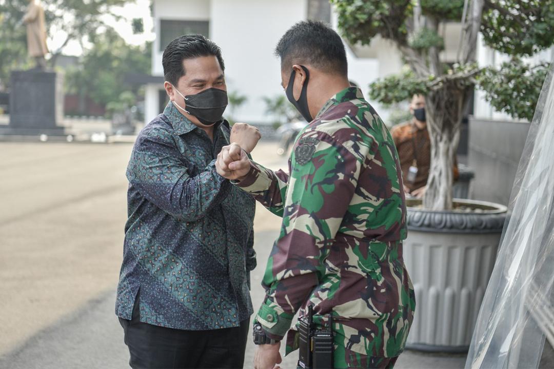 Jakarta, 7 Agustus 2020 Menteri BUMN, Erick Thohir melibatkan Kepala Staf TNI Angkatan Darat (KSAD), Jenderal TNI Andika Perkasa sebagai Wakil Ketua Pelaksana Komite Penanganan Covid-19 dan Pemulihan Ekonomi Nasional (KPCPEN)