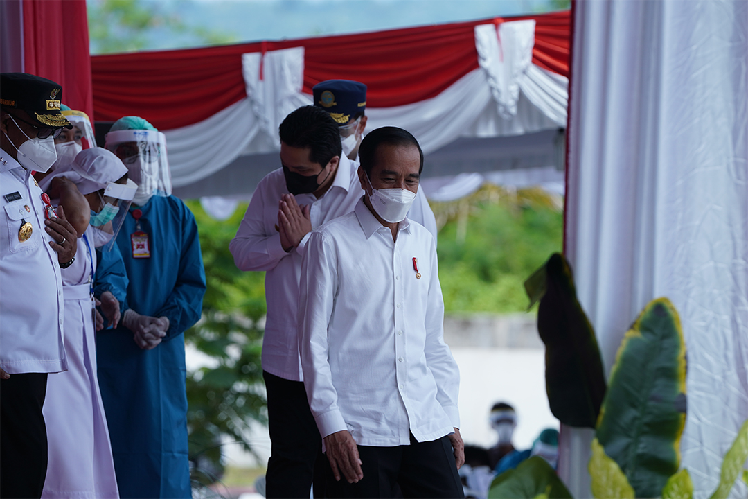 Rangkaian kunjungan kerja Presiden Joko Widodo ke Provinsi Maluku