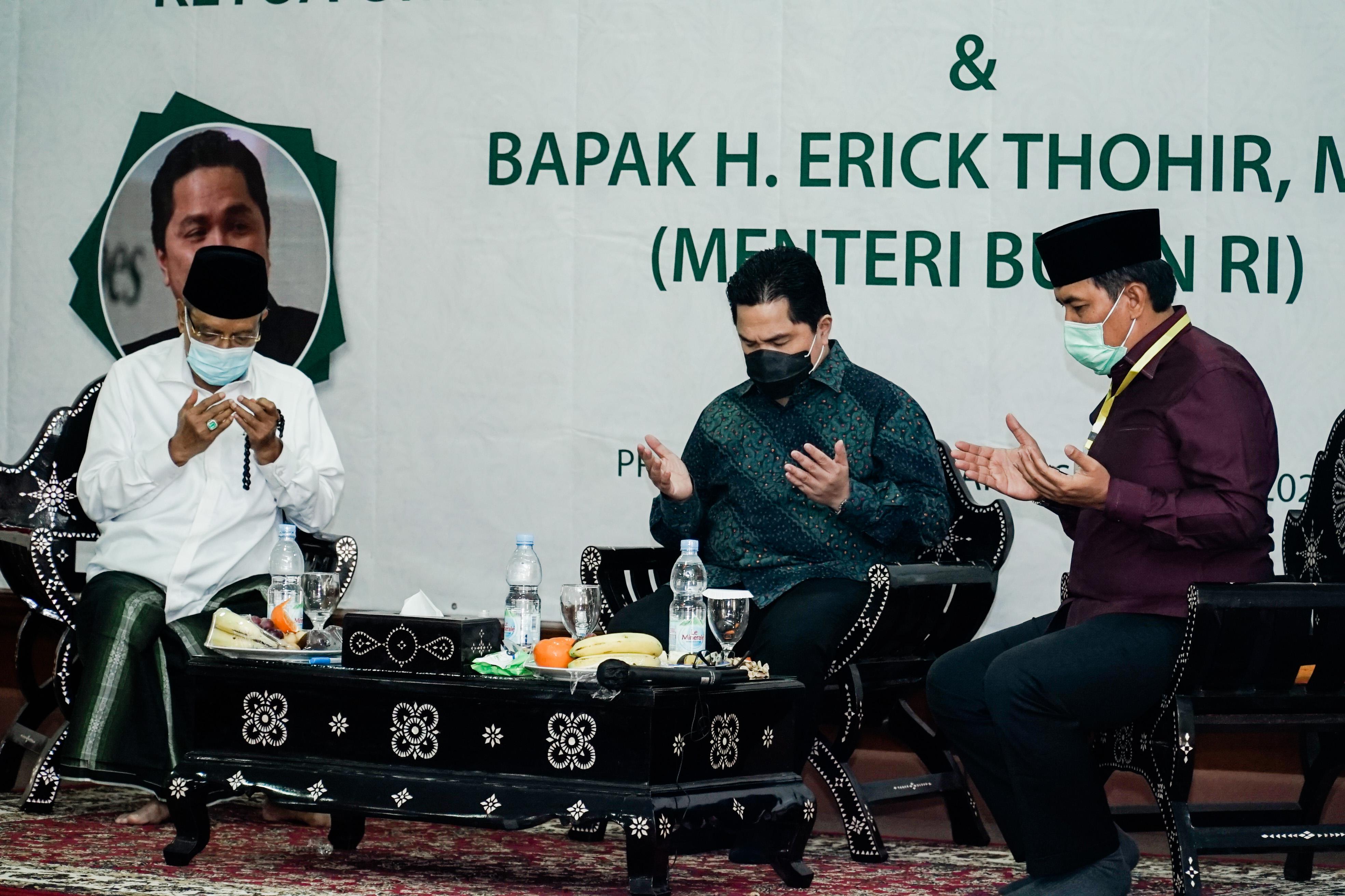 Kementerian Badan Usaha Milik Negara menjalin kolaborasi dengan Pengurus Besar Nahdlatul Ulama (PBNU).