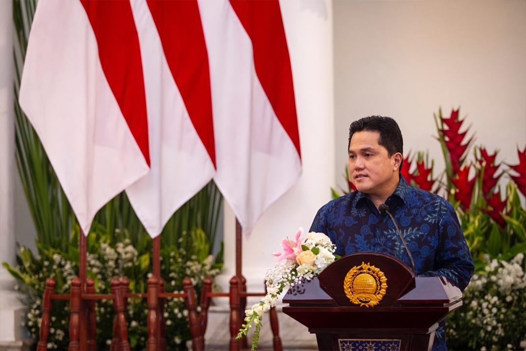 Menteri BUMN Erick Thohir Menghadiri MoU di gedung Kementerian Luar Negeri