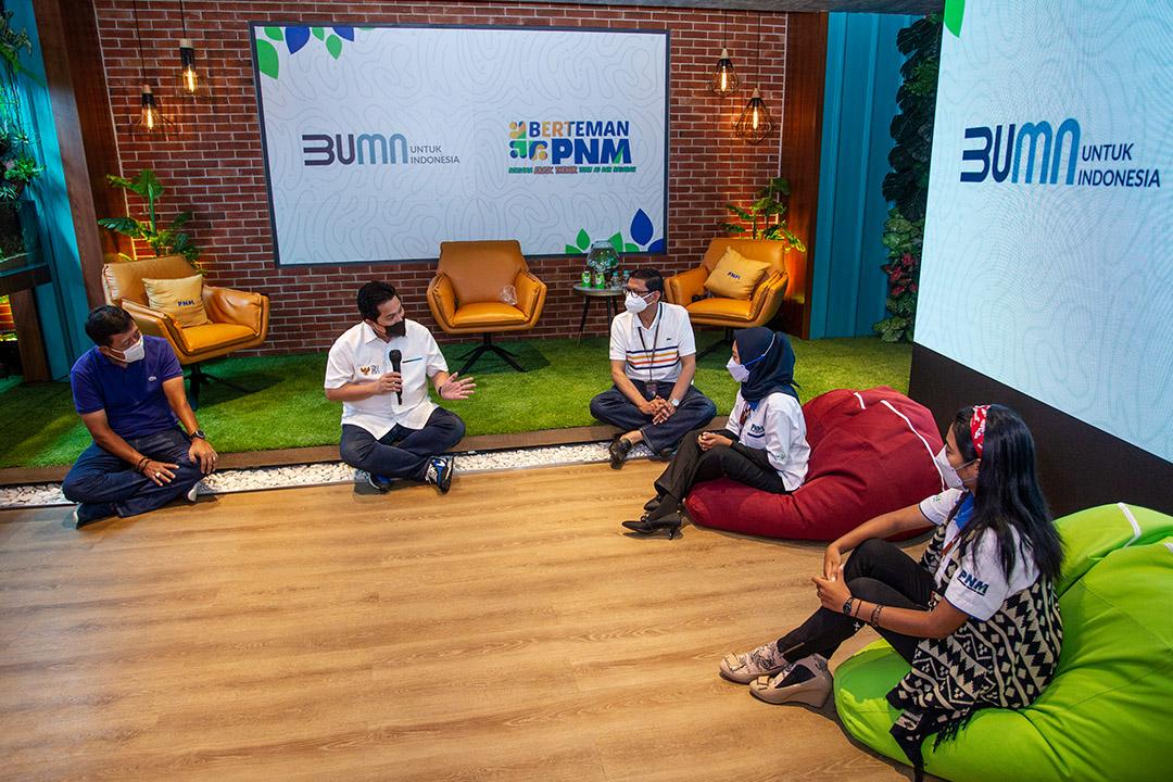 Kunjungan Menteri BUMN Erick Thohir ke PNM Mekaar