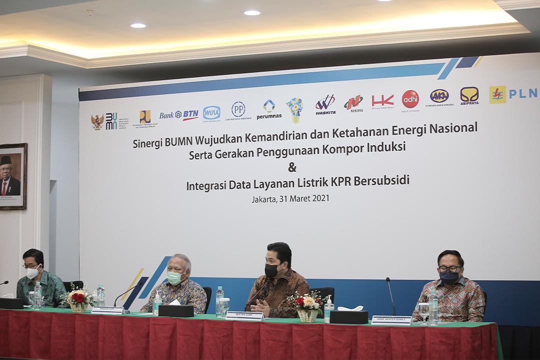 nota kesepahaman dalam rangka mewujudkan kemandirian dan ketahanan energi Nasional demi mewujudkan energi bersih melalui gerakan penggunaan kompor induksi