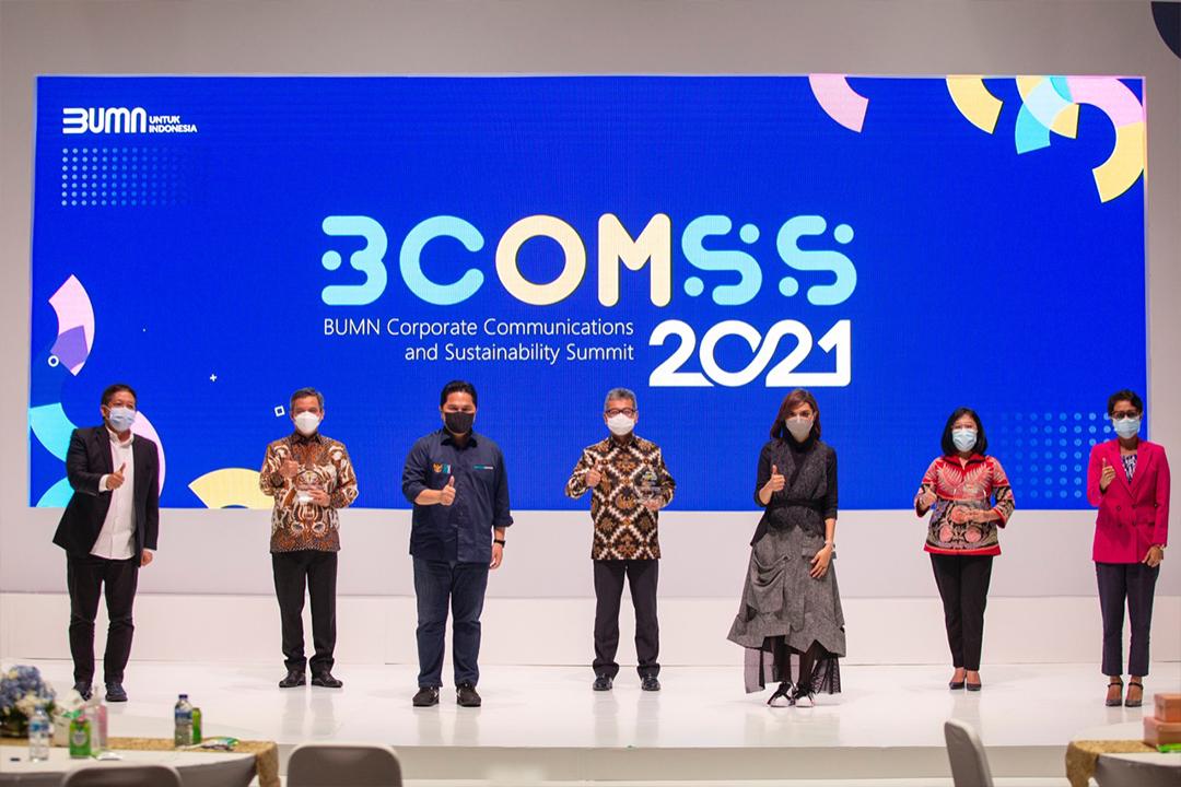 Kementerian Badan Usaha Milik Negara menggelar BUMN Corporate Communications and Sustainability Summit (BCOMSS) 2020-2021 (29/1)