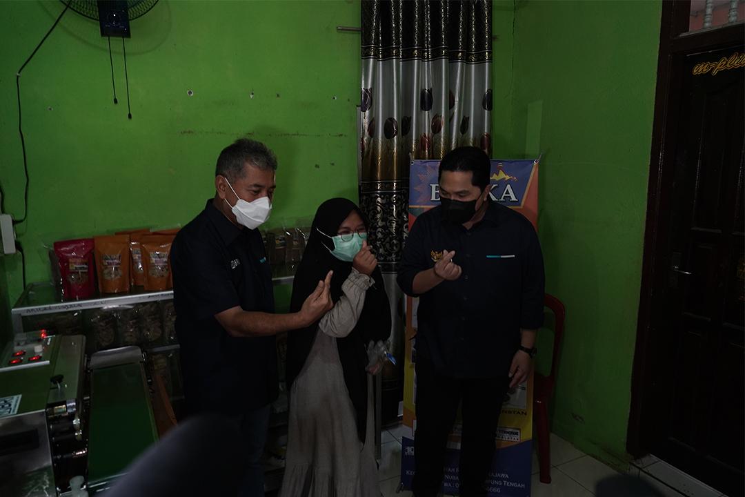 Menteri BUMN Erick Thohir melakukan kunjungan kerja ke Provinsi Lampung (19/6)