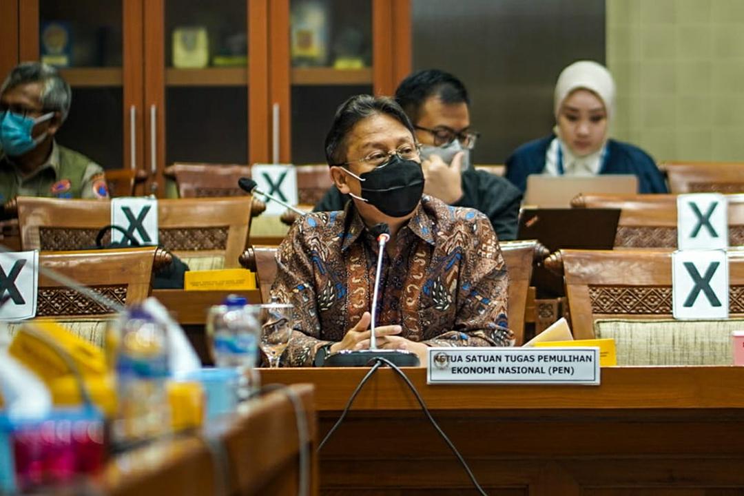 Ketua Pelaksana Komite Penanganan Covid-19 dan Pemulihan Ekonomi Nasional, Erick Thohir, menghadiri Rapat Dengar Pendapat dengan Komisi IX DPR RI.