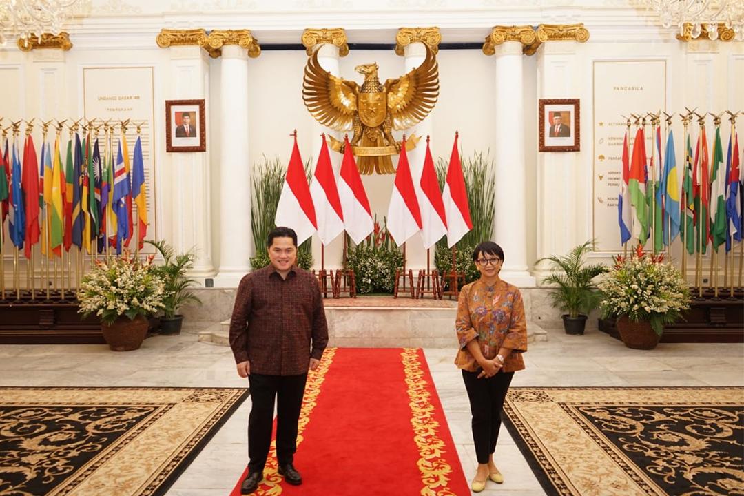 Menteri BUMN dan Menteri Luar Negeri Dorong Diplomasi Ekonomi Melalui BUMN Go Global