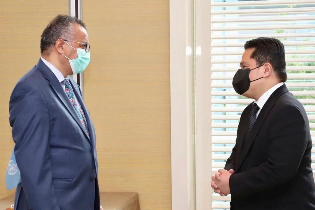 Menteri BUMN Erick Thohir dan Menteri Luar Negeri Retno Marsudi merampungkan perjalanan diplomatiknya di Bern dan Jenewa Swiss