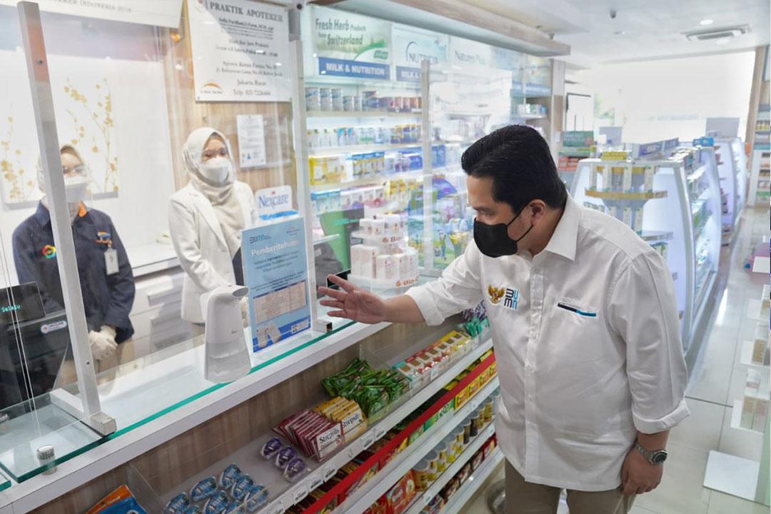Menteri BUMN Erick Thohir mengecam harga-harga obat yang melejit tajam di tengah kebutuhan yang tinggi sebagai terapi pencegahan dan penyembuhan Covid-19.