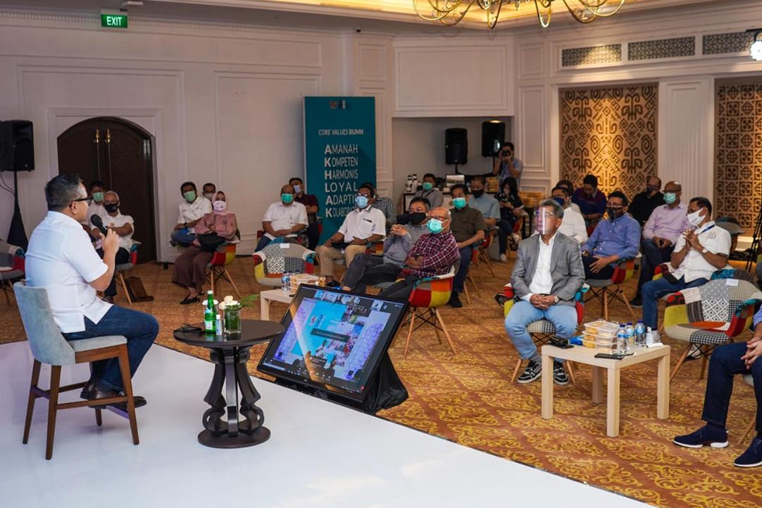 Sosialisasi AKHLAK sebagai nilai utama Kementerian BUMN dan BUMN oleh Wakil Menteri BUMN II Kartika Wirjoatmodjo dan Deputi Bidang SDM dan Teknologi Informasi