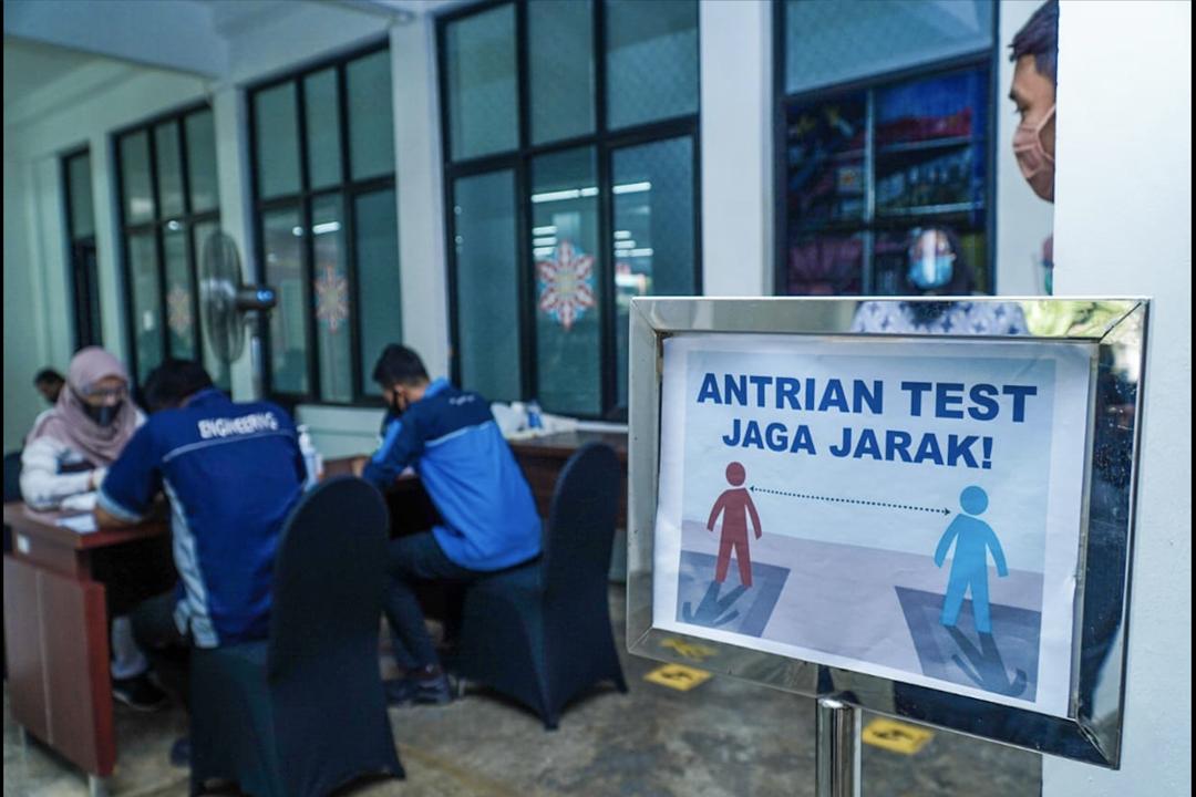 Kementerian BUMN kembali mengadakan rapid test kepada seluruh pegawai yang berada di lingkungan kantor Kementerian BUMN pada hari ini, Rabu, 26 Agustus 2020.