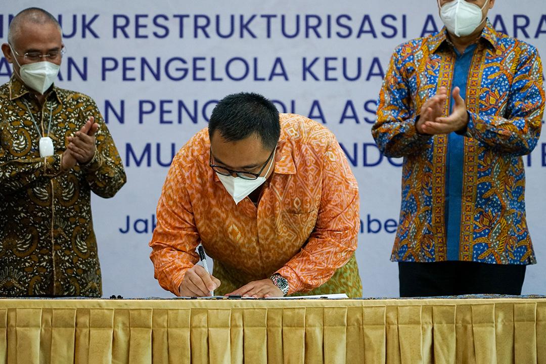 PT PPA dengan dukungan dari Kementerian Badan Usaha Milik Negara (BUMN) sebagai Pemegang Saham melakukan pengelolaan aset berkualitas rendah milik PT Bank Muamalat Indonesia Tbk (Bank Muamalat)