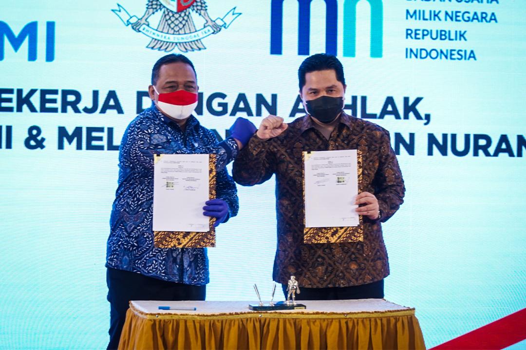 Kementerian BUMN menjalin sinergitas dengan Badan Perlindungan Pekerja Migran Indonesia (BP2MI) untuk turut serta memberikan perlindungan bagi Pekerja Migran Indonesi (PMI)
