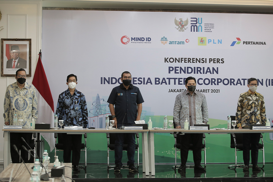 Kementerian BUMN memperkenalkan Indonesia Battery Corporation (IBC) sebagai holding untuk mengelola ekosistem industri baterai kendaraan bermotor listrik (Electric Vehicle Battery)