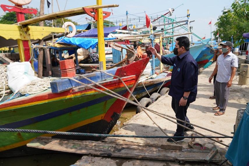 Menteri BUMN Erick Thohir Siap Bantu Nelayan Blanakan Lebih Berdaya
