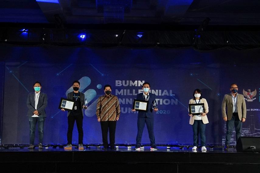 Terus Inovatif, Erick Thohir Berikan Penghargaan Pada Milenial BUMN