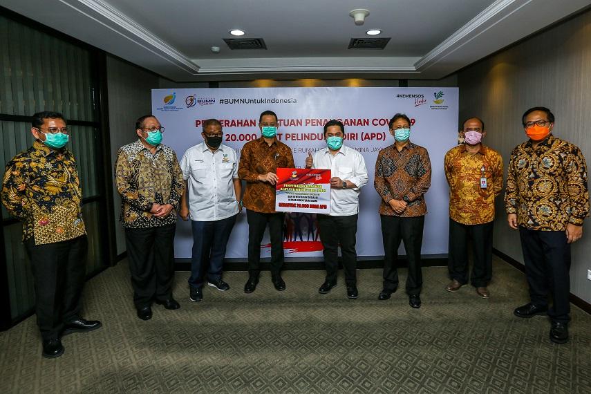 Rumah Sakit BUMN Terima Bantuan Penanganan Covid-19 dari Kementerian Sosial dan Para Donatur