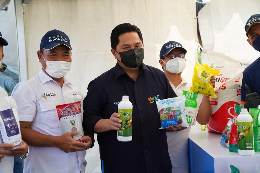Menteri Erick Thohir Minta BUMN Bantu Petani Makin Makmur Dengan Solusi Pertanian