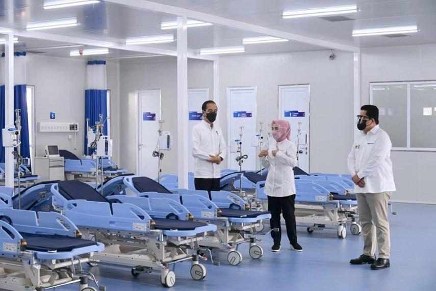 Presiden Resmikan Rumah Sakit Modular Pertamina Tanjung Duren