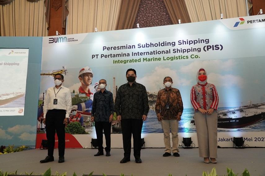 Menteri BUMN, Erick Thohir Resmikan PT Pertamina International Shipping sebagai Subholding Shipping P