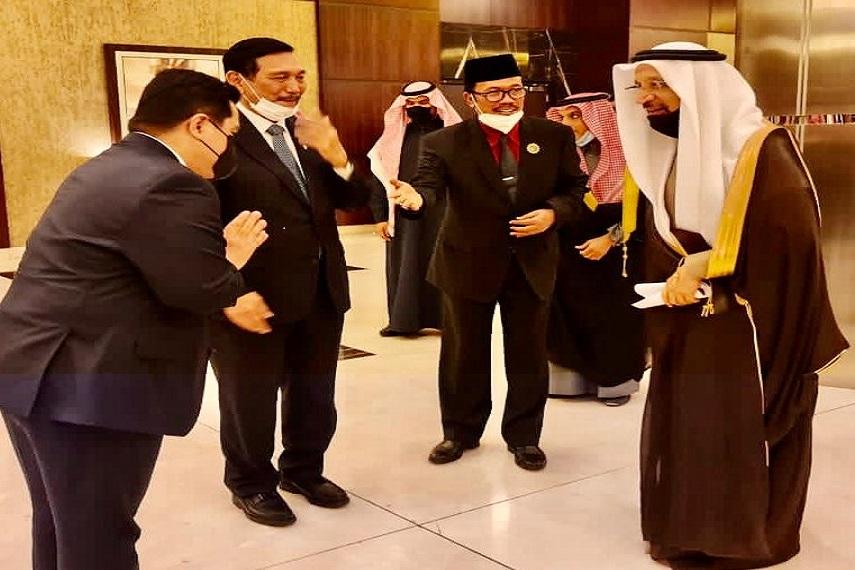 Menko Marves dan Menteri BUMN Jajaki Kerjasama Investasi dan Ekonomi  dengan Uni Arab Emirat dan Arab Saudi Paska Covid-19