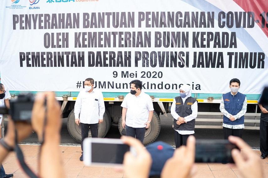 BUMN sampaikan sumbangan untuk Pemprov Jawa Timur